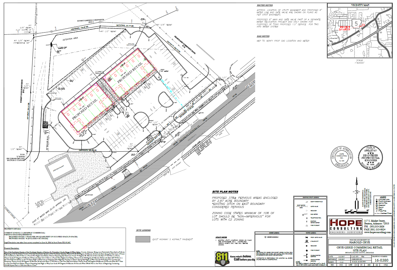 Site Plan Design Hope Consulting Civil Engineers Arkansas
