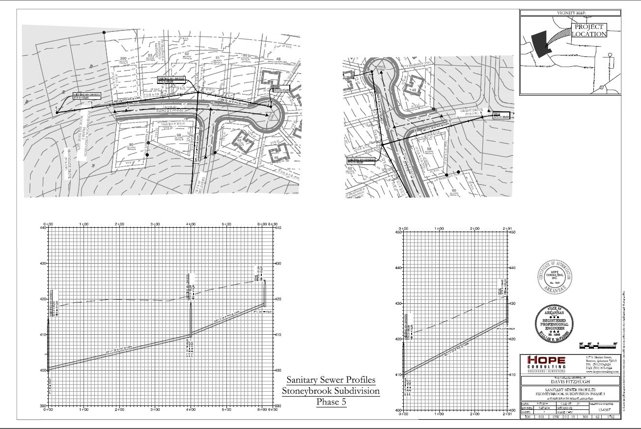 Water and Sanitary Sewer Design| Hope Consulting: Civil Engineers ...